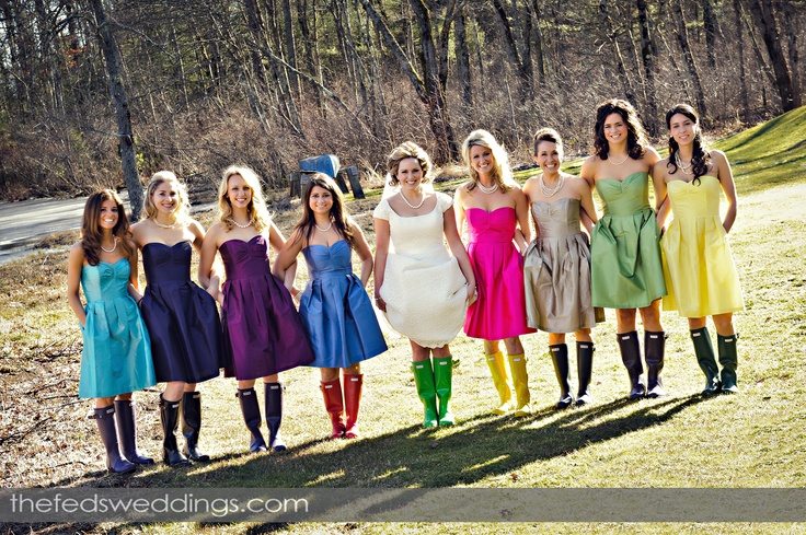 Amazing Kind And Beautiful Flair Bride Molly Had Hunter Boots For Her S The